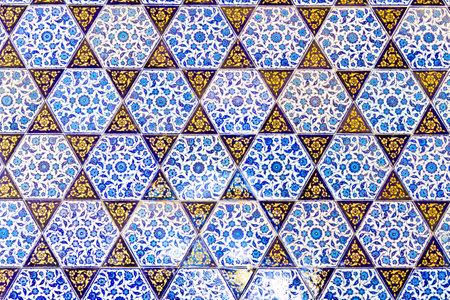 Handmade Blue Tiles from Topkapi Palace Stock Photo - 22771651