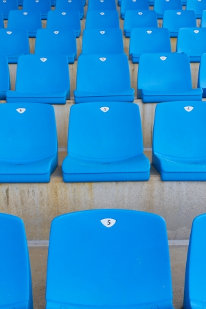 grandstand: Empty seats of a grandstand Stock Photo