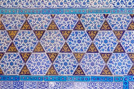 Handmade Blue Tiles from Topkapi Palace Stock Photo - 22771659