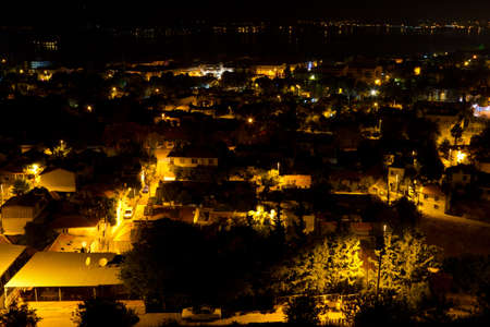 fethiye: Night view of Fethiye, Turkey Stock Photo