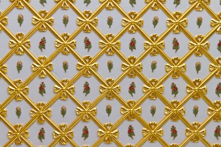 Plafond du palais de Topkapi, Istanbul Banque d'images