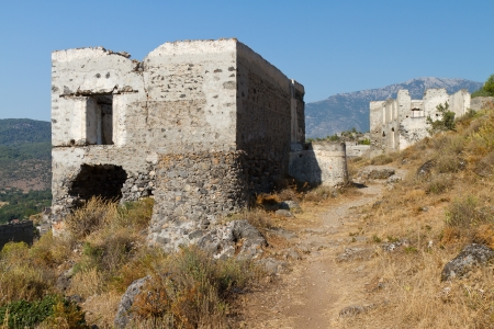 Ruins of Kayakoy, Fethiye Stock Photo - 23016280