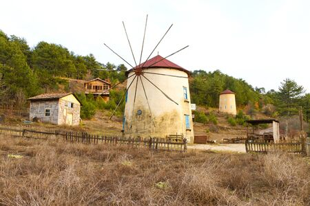 Windmill from Cubuk Lake, Turkey 新聞圖片