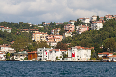 strait: Buildings in Bosphorus Strait, Istanbul
