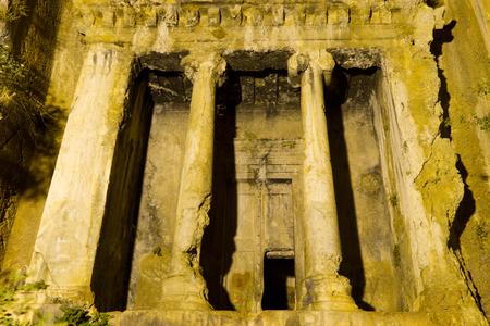 fethiye: Tomb of Amyntas from Fethiye Stock Photo