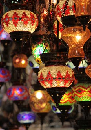 Turkish Laterns in Grand Bazaar, Istanbul photo