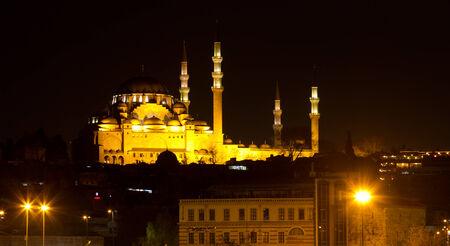 suleymaniye: Suleymaniye Mosque from Istanbul, Turkey Stock Photo