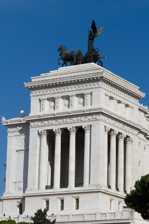 emmanuel: Monument of Victor Emmanuel II, Rome, Italy Stock Photo