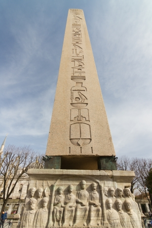 the obelisk: Obelisk of Theodosius, Istanbul, Turkey