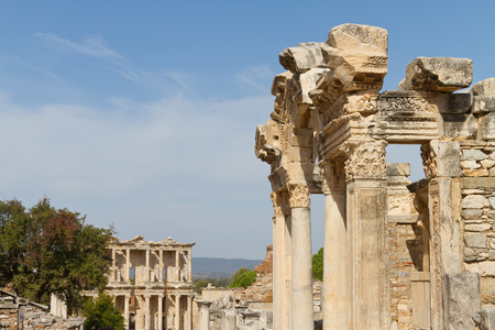 hadrian: Temple of Hadrian and Library of Celsus in Ephesus, Turkey