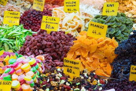 frutos secos: Frutos secos en Bazar de las Especias, Estambul