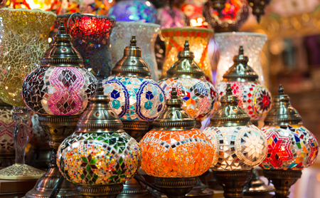 laterns: Turkish Laterns in Spice Bazaar, Istanbul City, Turkey