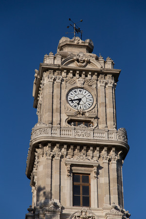 Dolmabahce Clock Tower in Istanbul photo