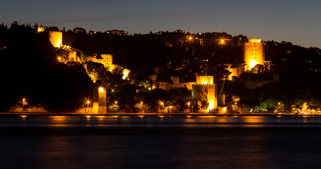 hisari: Rumelian Castle in Istanbul City, Turkey Editorial