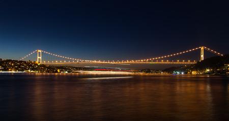fatih: Fatih Sultan Mehmet Bridge in Istanbul City Stock Photo