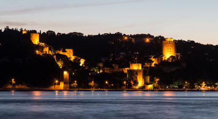 hisari: Rumelian Castle in Istanbul City, Turkey Stock Photo