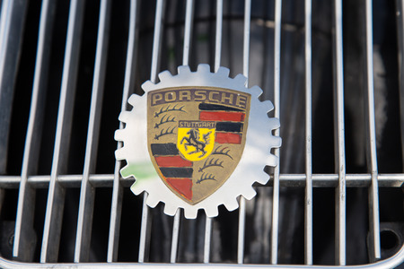 speedster: ISTANBUL, TURKEY - JUNE 07, 2014: Porsche 356 Speedster Logo in Istanbul Concours dElegance. Concours dElegance referring to the gathering of prestigious cars over 100 years.