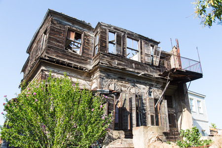 ruinous: An Abandoned Building in Heybeliada Island, Istanbul Stock Photo
