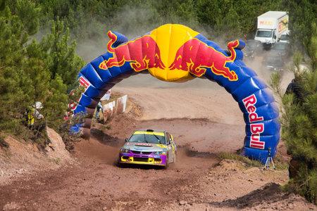ralli: ISTANBUL, TURKEY - JULY 12, 2014: Simin Bicakcioglu drives Mitsubishi Lancer Evo 9 in 35. Istanbul Rally, Gocbeyli Namet Stage