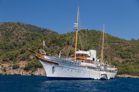 A Yacht in Aegean Coast of Turkey