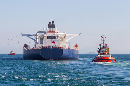 Tanker Ship Banque d'images