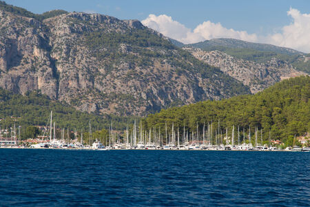 Gocek Town in Aegean coast of Turkey