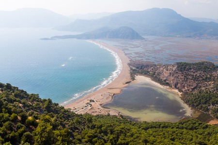 Iztuzu Beach in Aegean Coast of Turkey