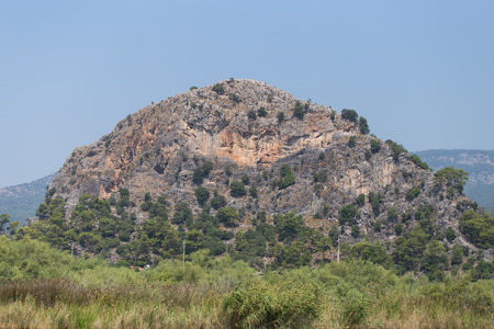 morass: A Hill in Dalyan Town, Koycegiz, Turkey