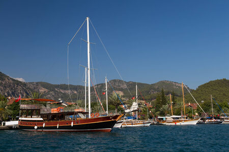 Gocek Town in Aegean coast of Turkey