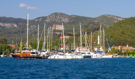 Gocek Marina in Aegean coast of Turkey