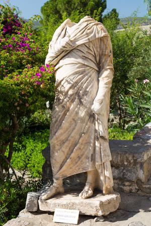 governor: Roman Governor Sculpture in Bodrum Castle, Turkey Stock Photo