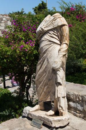 governor: Roman Governor Sculpture in Bodrum Castle, Turkey Editorial
