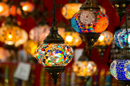laterns: Turkish Laterns in Grand Bazaar, Istanbul City