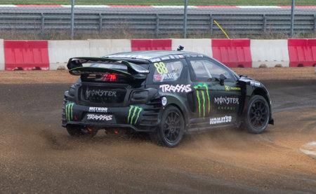 motorsports: ISTANBUL, TURKEY - OCTOBER 11, 2014: Henning Solberg drives Citroen DS3 of LD Motorsports Team in FIA World Rallycross Championship.