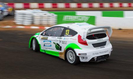fia: ISTANBUL, TURKEY - OCTOBER 12, 2014: Daniel Holten drives RX Lites in FIA World Rallycross Championship.