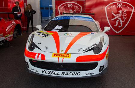 ISTANBUL, TURKEY - OCTOBER 25, 2014: Kessel Racing Team driver Massimiliano Bianchi in paddock area of Ferrari Racing Days in Istanbul Park Racing Circuit