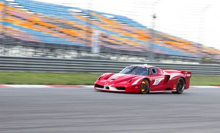 programmes: ISTANBUL, TURKEY - OCTOBER 25, 2014: B. Dransmann drives Ferrari FXX during XX Programmes of Ferrari Racing Days in Istanbul Park Racing Circuit Editorial
