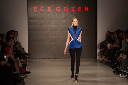 fashion week: ISTANBUL, TURKEY - MARCH 16, 2015: Ece Gozen Catwalk held during Mercedes-Benz Fashion Week Istanbul Editorial