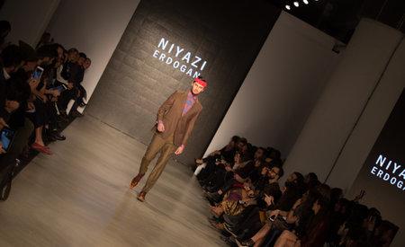 fashion week: ISTANBUL, TURKEY - MARCH 16, 2015: Niyazi Erdogan Catwalk held during Mercedes-Benz Fashion Week Istanbul
