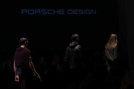 the latest models: ISTANBUL, TURKEY - MARCH 21, 2015: Models showcase the latest creations by Porsche Design in Mercedes-Benz Fashion Week Istanbul Editorial