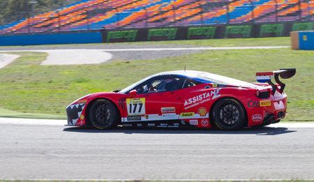 pirelli: ISTANBUL, TURKEY - OCTOBER 25, 2014: Fons Scheltema drives Ferrari 458 Challenge EVO of Kessel Racing Team during Ferrari Racing Days in Istanbul Park Racing Circuit