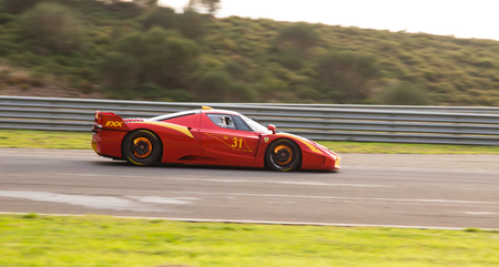 programmes: ISTANBUL, TURKEY - OCTOBER 26, 2014: Ferrari FXX during XX Programmes of Ferrari Racing Days in Istanbul Park Racing Circuit