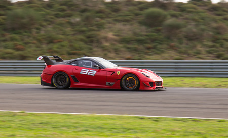 programmes: ISTANBUL, TURKEY - OCTOBER 26, 2014: Ferrari 599XX during XX Programmes of Ferrari Racing Days in Istanbul Park Racing Circuit