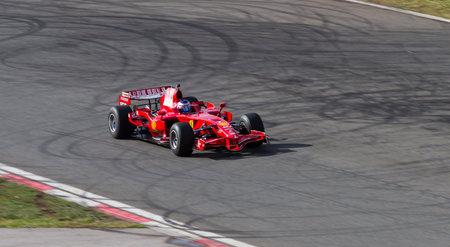 f1: ISTANBUL, TURKEY - OCTOBER 25, 2014: F1 Car in F1 Clienti during Ferrari Racing Days in Istanbul Park Racing Circuit Editorial