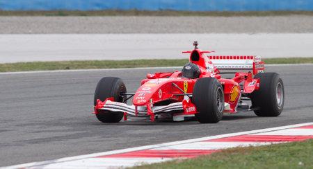 f1: ISTANBUL, TURKEY - OCTOBER 26, 2014: F1 Car in F1 Clienti during Ferrari Racing Days in Istanbul Park Racing Circuit