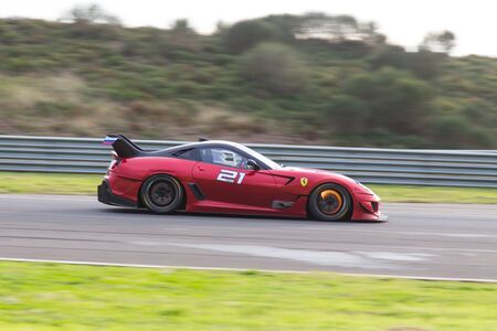 programmes: ISTANBUL, TURKEY - OCTOBER 26, 2014: P. Hannell drives Ferrari 599XX during XX Programmes of Ferrari Racing Days in Istanbul Park Racing Circuit