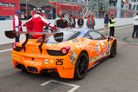 pirelli: ISTANBUL, TURKEY - OCTOBER 26, 2014: Motor Piacenza Racing Team driver Daniele Di Amato in start of race during Ferrari Racing Days in Istanbul Park Racing Circuit Editorial