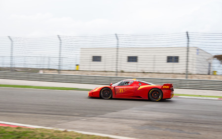 programmes: ISTANBUL, TURKEY - OCTOBER 25, 2014: Ferrari FXX during XX Programmes of Ferrari Racing Days in Istanbul Park Racing Circuit