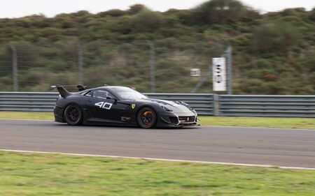programmes: ISTANBUL, TURKEY - OCTOBER 26, 2014: C. Ruud drives Ferrari 599XX during XX Programmes of Ferrari Racing Days in Istanbul Park Racing Circuit