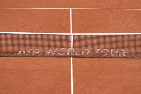 paribas: ISTANBUL, TURKEY - MAY 02, 2015: ATP World Tour Tennis net during TEB BNP Paribas Istanbul Open 2015